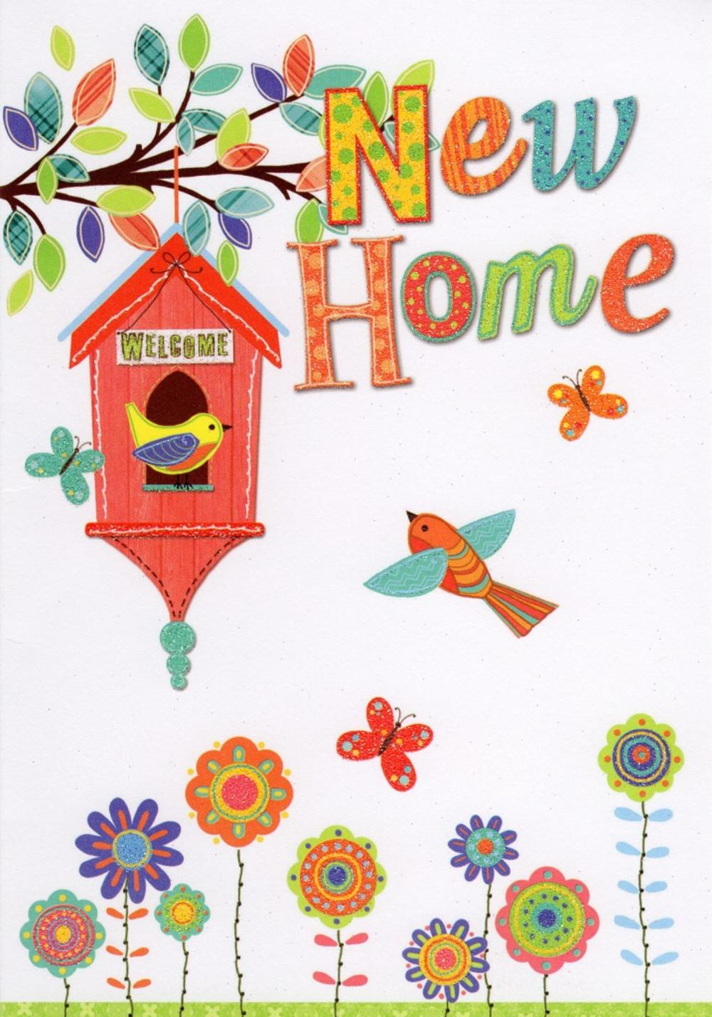 New home greeting card cards love kates for Enjoy your new home images