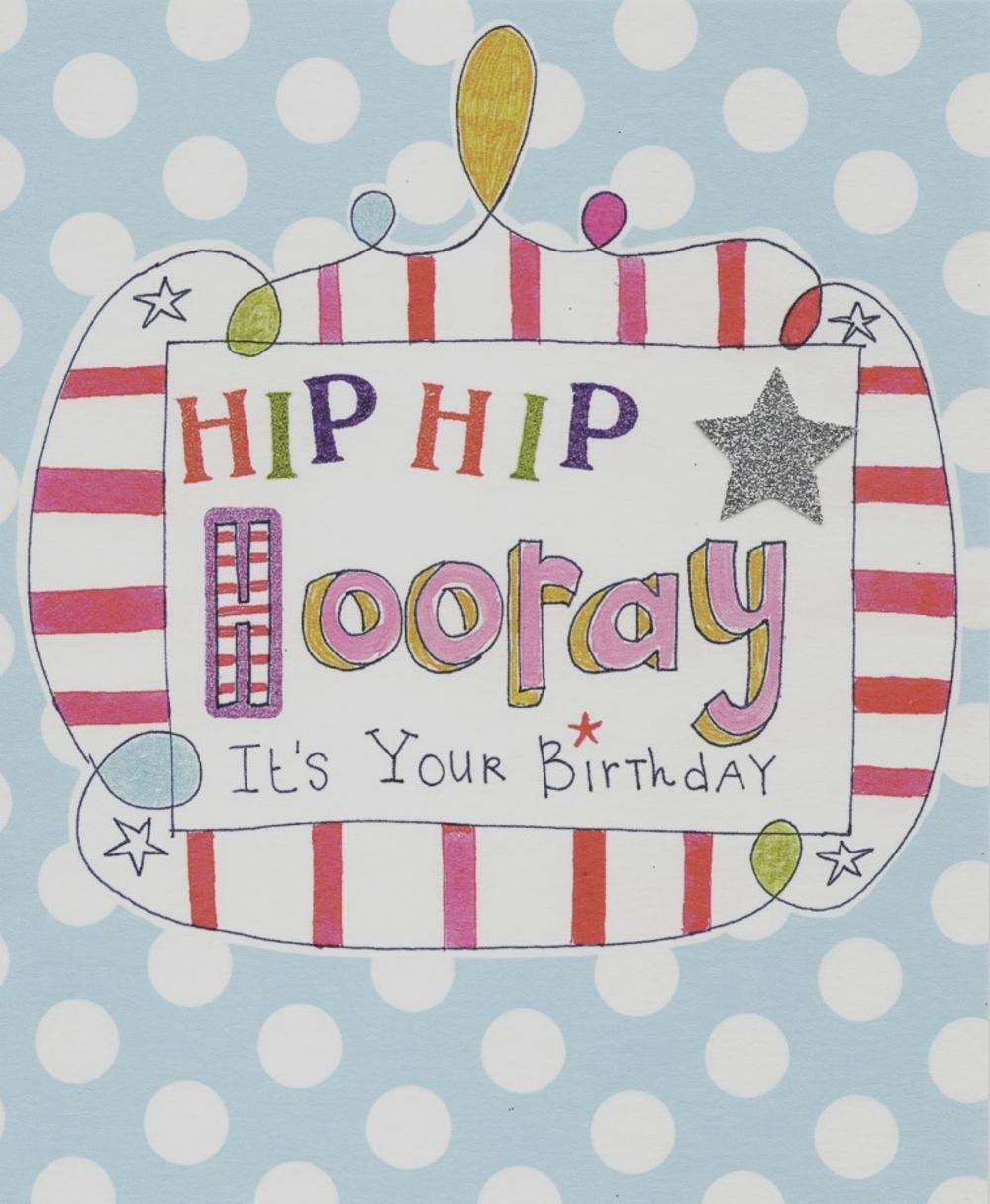 Hip Hip Hooray Paper Salad Birthday Card