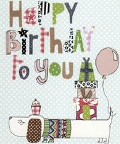 Happy Birthday To You Paper Salad Birthday Card