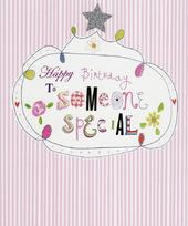 Happy Birthday To Someone Special Paper Salad Birthday Card