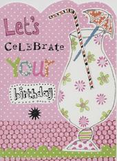 Let's Celebrate Paper Salad Birthday Card