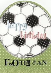 Happy Birthday Footie Fan Paper Salad Birthday Card