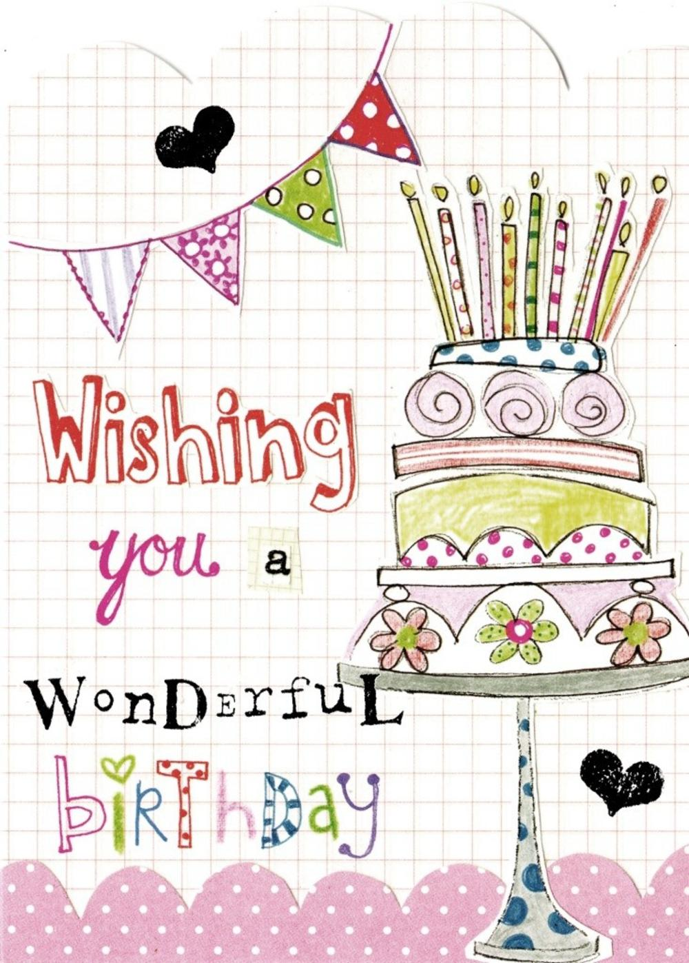 wishing you a wonderful birthday paper salad birthday card