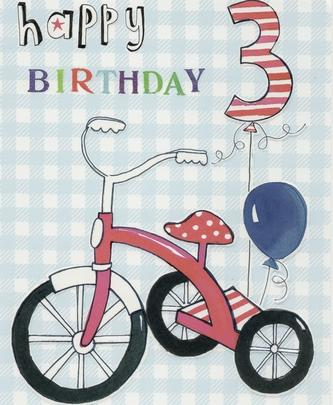 3rd Birthday Paper Salad Greeting Card