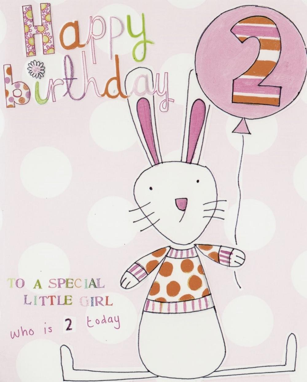 2nd Birthday Paper Salad Greeting Card