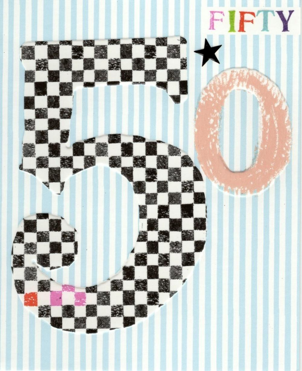 50th Birthday Paper Salad Greeting Card