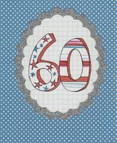 Lovely 60th Paper Salad Birthday Card
