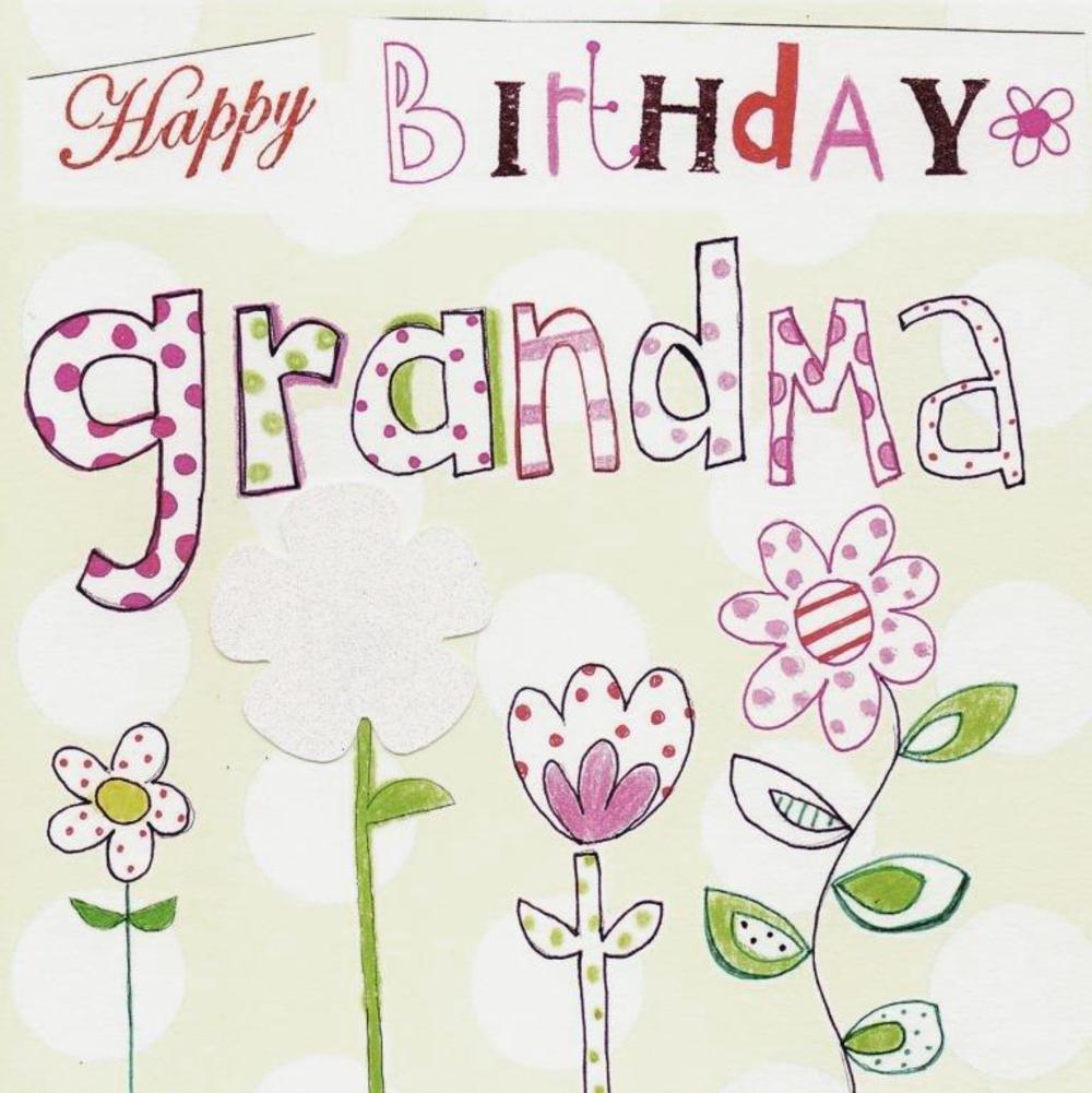 Happy birthday grandma paper salad greeting card cards love kates happy birthday grandma paper salad greeting card kristyandbryce Images