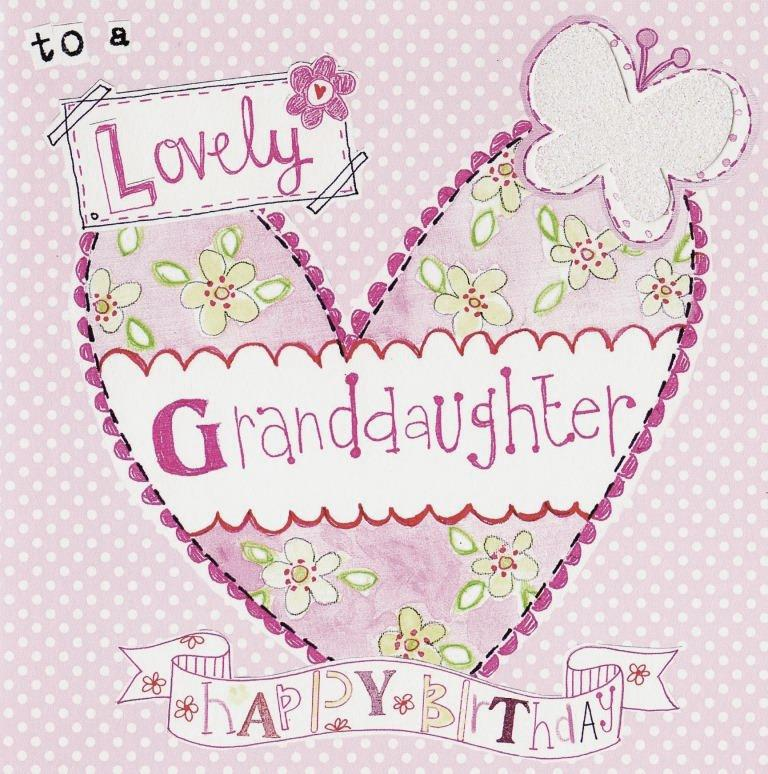 Happy Birthday Granddaughter Paper Salad Greeting Card Cards