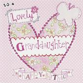 Happy Birthday Granddaughter Paper Salad Greeting Card