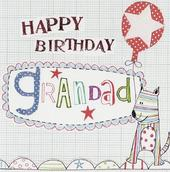 Happy Birthday Grandad Paper Salad Greeting Card