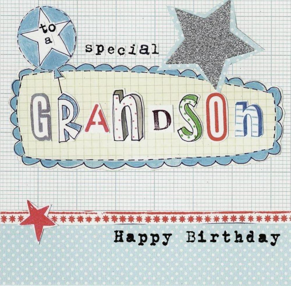 Happy Birthday Special Grandson Paper Salad Greeting Card
