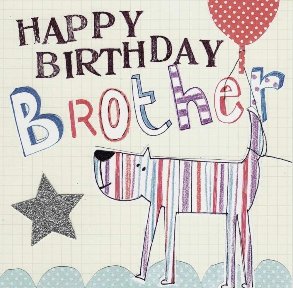 Happy Birthday Brother Paper Salad Greeting Card