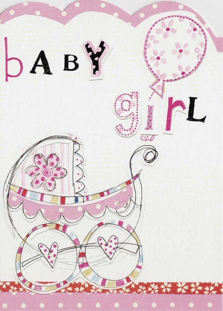 New baby girl paper salad greeting card cards love kates new baby girl paper salad greeting card m4hsunfo Choice Image