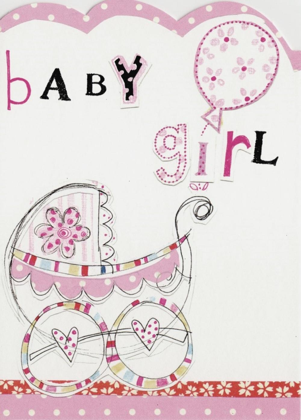 New baby girl paper salad greeting card cards love kates new baby girl paper salad greeting card m4hsunfo
