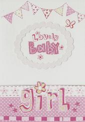 Lovely Baby Girl Paper Salad Greeting Card