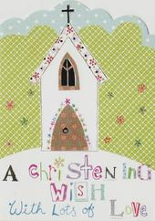 A Christening Wish Paper Salad Greeting Card