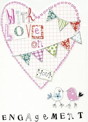 With Love On Your Engagement Paper Salad Greeting Card