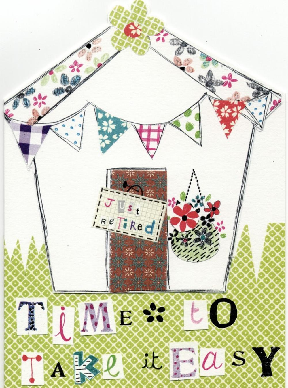 Time To Take It Easy Paper Salad Greeting Card