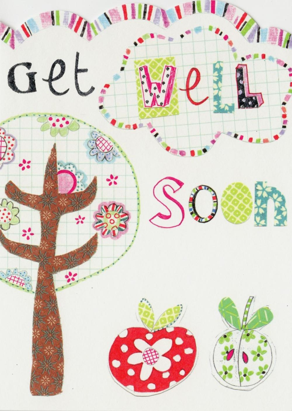 Get Well Soon Paper Salad Greeting Card