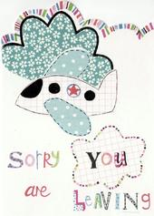 Sorry You're Leaving Paper Salad Greeting Card