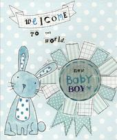 New Baby Boy Paper Salad Greeting Card