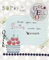 Sorry To Hear Paper Salad Greeting Card
