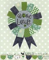 Good Luck Paper Salad Greeting Card