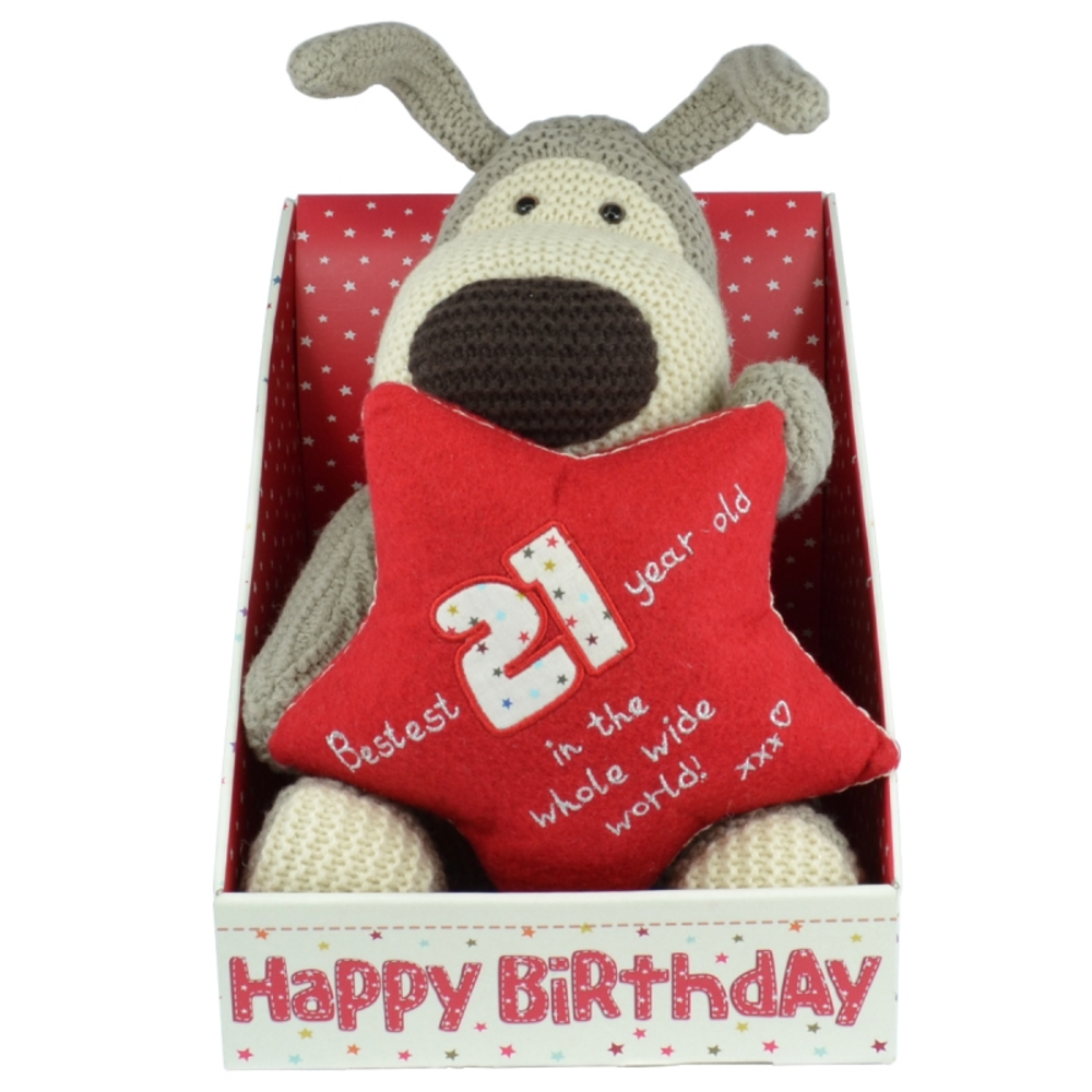 Boofle 21st Birthday Large Plush Toy In A Gift Box