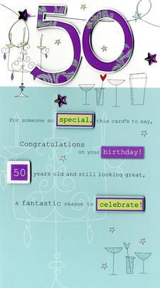 Lovely 50th Birthday Greeting Card