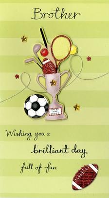Brilliant Brother Birthday Greeting Card