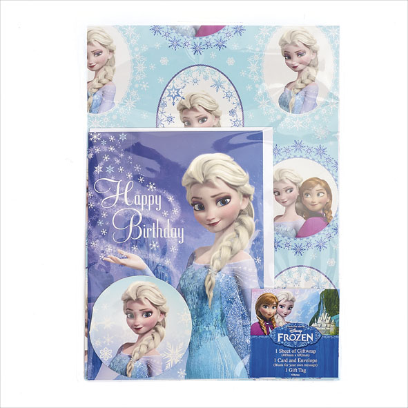 Frozen Birthday Card Wrapping Paper Set Gift Wrapping Love Kates