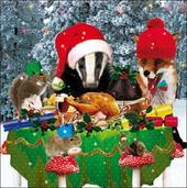 Pack of 5 Woodland Animals Samaritans Charity Christmas Cards