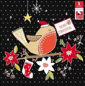 Pack of 5 Red Robin Children With Cancer Charity Christmas Cards