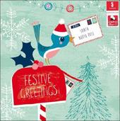 Pack of 5 Festive Children With Cancer Charity Christmas Cards