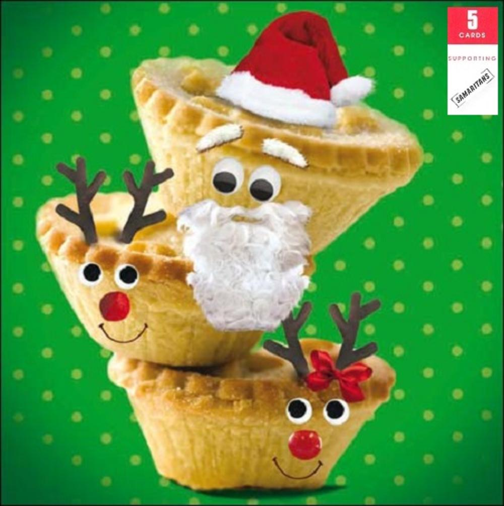 Pack of 5 Mince Pies Samaritans Charity Christmas Cards
