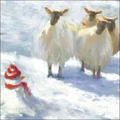 Pack of 5 Sheep British Heart Foundation Charity Christmas Cards