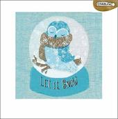 Pack of 5 Owl Let It Snow ChildLine Charity Christmas Cards