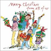 Pack of 5 Quentin Blake Marie Curie Cancer Care Charity Christmas Cards