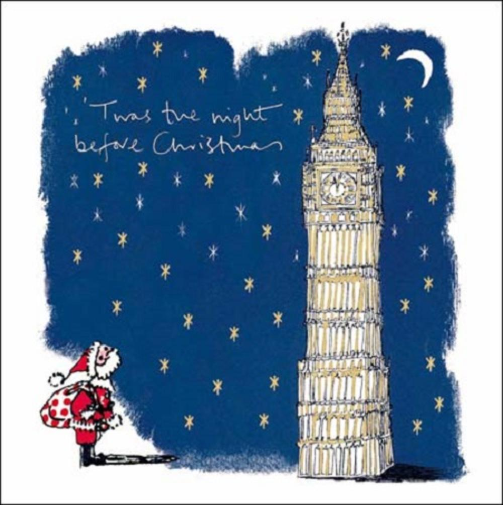 Pack of 5 Twas The Night WaterAid Charity Christmas Cards