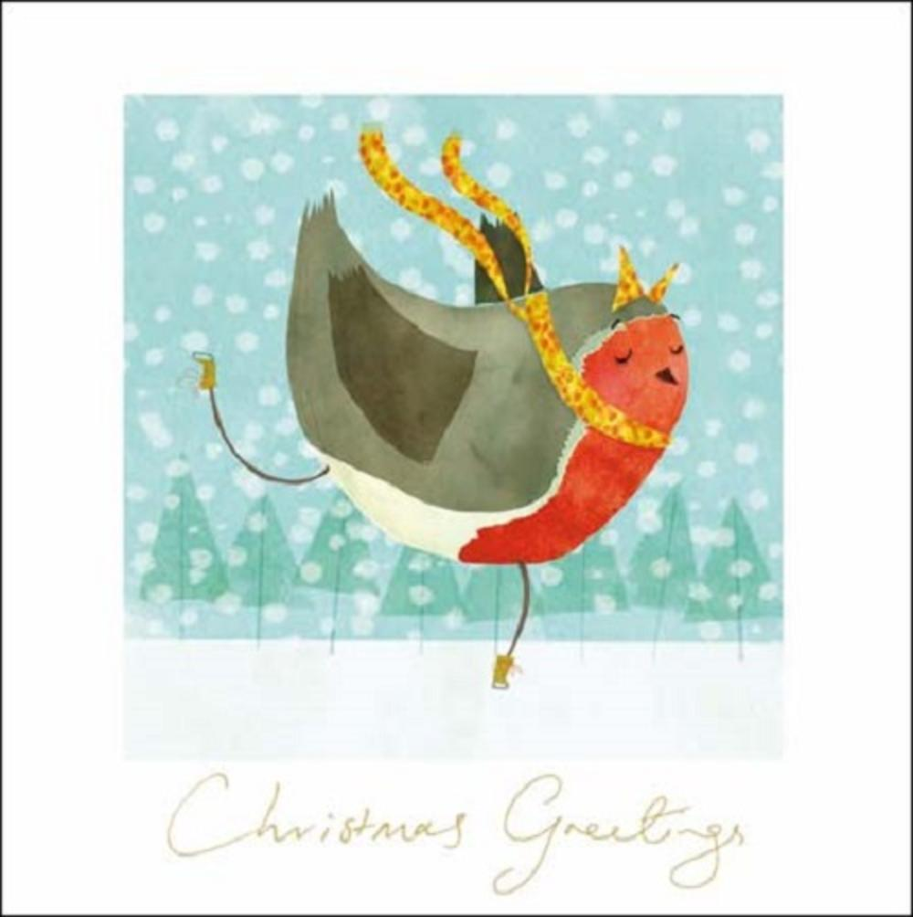 Pack of 5 Robin British Heart Foundation Charity Christmas Cards