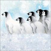 Pack of 5 Penguin Winter Wonderland ChildLine Charity Christmas Cards