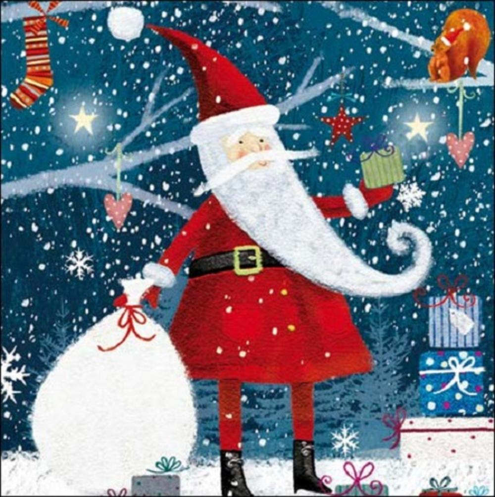 Pack of 5 Father Christmas ChildLine Charity Christmas Cards