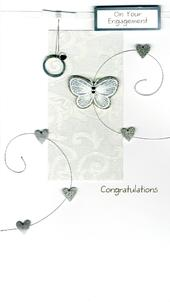 Large Engagement Congratulations Greeting Card
