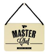 Master Chef Works For Free Tin Hanging Plaque