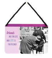 Friends Are For Life And Life Is For Friends Tin Hanging Plaque