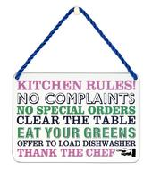 Kitchen Rules Tin Hanging Plaque