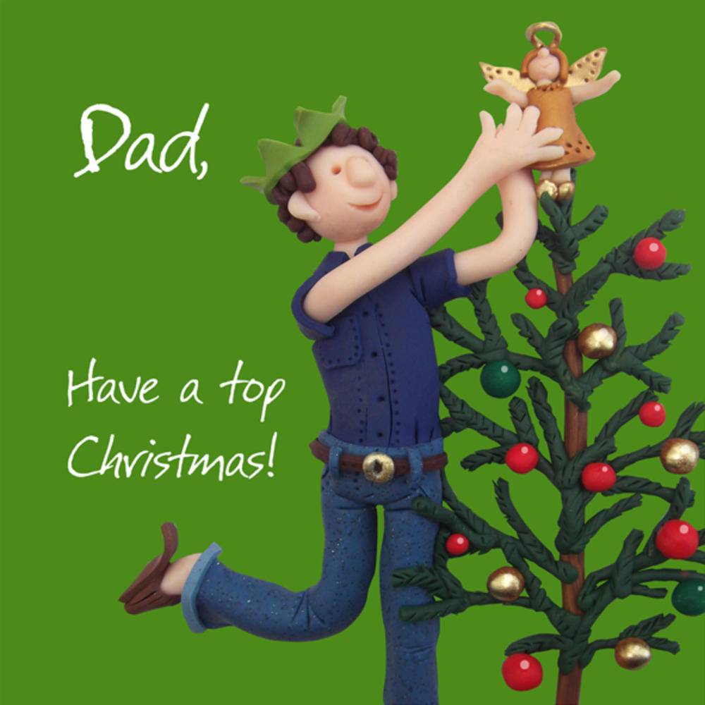 Dad Have A Top Christmas Greeting Card