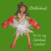 Girlfriend Christmas Cracker Greeting Card