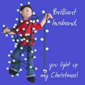 Husband, Light Up My Christmas Greeting Card